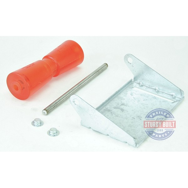 10 inch Stoltz Keel Roller Assembly Kit with Stainless Shaft and Galvanized Bracket