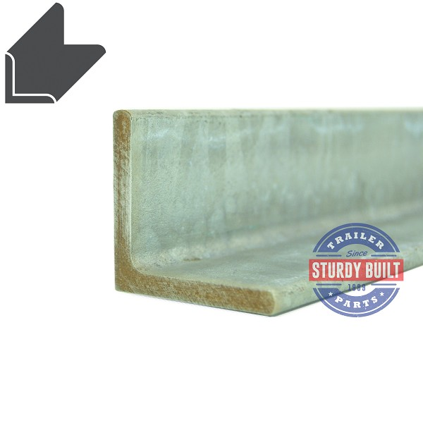 Galvanized Steel Angle 2 inch tall x 2 inch wide 1/4 inch Thick Cut to Order