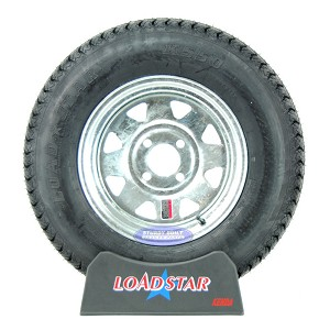 ST175/80D13 Boat Trailer Tire on a Galvanized 4 bolt Wheel B78-13 LRC