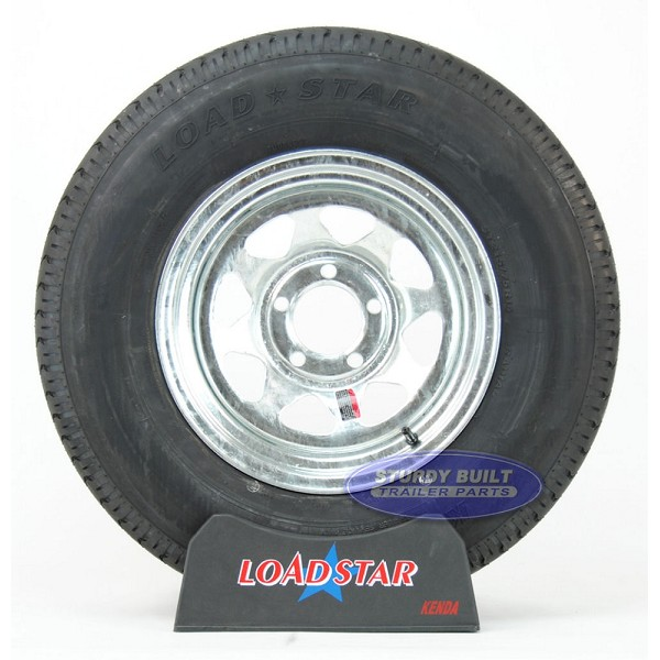ST215/75R14 Radial Boat Trailer Tire on a Galvanized 5 bolt Wheel