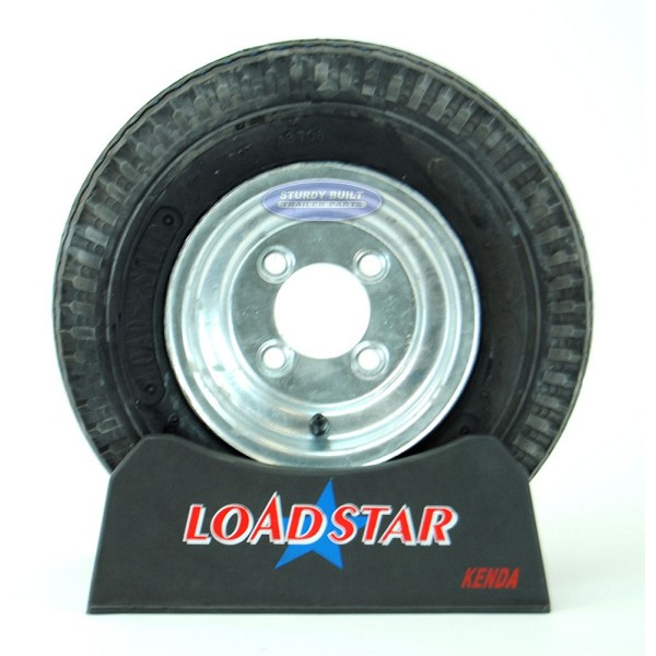 ST 4.80 x 8 Trailer Tire on 4 Bolt Galvanized Wheel 4 on 4 Lug Pattern