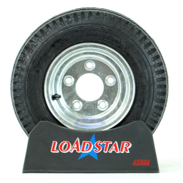 4.80 x 8 Trailer Tire on a 5 Bolt Galvanized Wheel 5 on 4 1/2 pattern