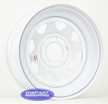 15 inch White Spoke 5 Bolt Trailer Wheel 5 on 4 1/2 Lug Pattern